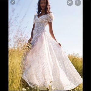 Love Shack Fancy wht lace maxi dress 0